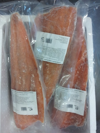 Salmon fillets with skin, IVP